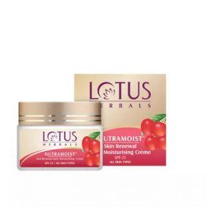Lotus Herbal Nutramoist Skin Renewal Daily Moisturising Creme Spf-25