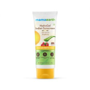 Mamaearth HydraGel Indian Sunscreen SPF 50, with Aloe Vera & Raspberry, for Sun Protection