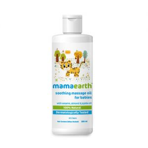 Mamaearth Soothing Baby Massage Oil With Sesame, Almond & Jojoba Oil