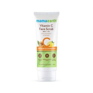 Mamaearth Vitamin C Face Scrub For Glowing Skin, With Vitamin C And Walnut For Skin Illumination