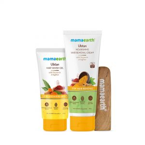 Mamaearth Ubtan Nourishing Hair Removal Cream Kit, For Sensitive Skin With Turmeric & Saffron