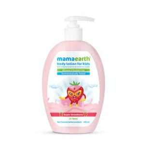 Mamaearth Super Strawberry Body Lotion for Kids With Strawberry & Shea Butter