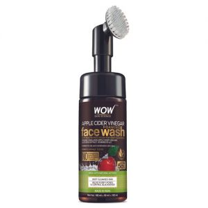 WOW Skin Science Apple Cider Vinegar Foaming Face Wash with Built-In Brush - pack of 2