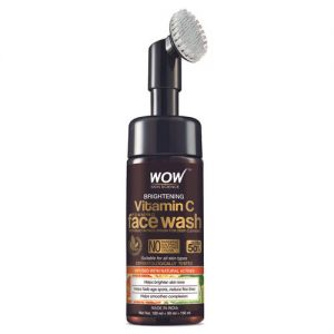 WOW Skin Science Brightening Vitamin C Foaming Face Wash with Built-In Face Brush _ pack of 2