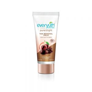 Everyuth Naturals Chocolate And Cherry Tan Removal Face & Body Pack (Pack of 2)