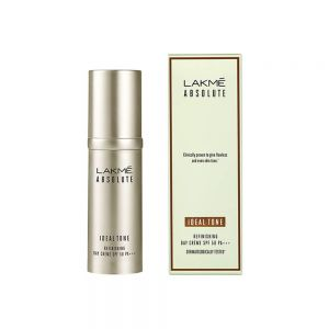 lakme absolute ideal tone refinishing day cream spf 50