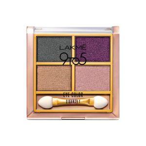 lakme 9to5 eye color quartet eye shadow - silk route