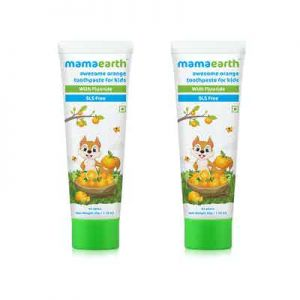Mamaearth Awesome Orange Toothpaste For Kids - pack of 2
