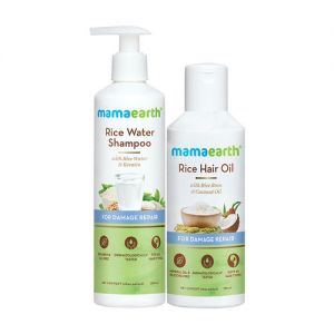 Mamaearth Rice Water Shampoo With Rice Water And Keratin & Rice Hair Oil