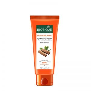 Biotique Bio Sandalwood Ultra Soothing Face Lotion 50+ SPF UVA/UVB Sunscreen