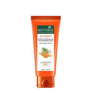 Biotique Bio Carrot Ultra Soothing Face Lotion 40+ SPF UVA/UVB Sunscreen For All Skin Types