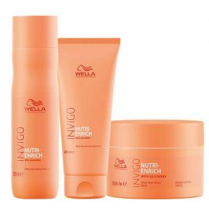 Wella Professionals INVIGO Nutri Enrich Deep Nourishing Mask, Shampoo & Conditioner Combo
