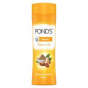ponds Sandal Radiance Talcum Powder, Natural Sunscreen
