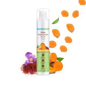 Mamaearth Ubtan Night Cream with Turmeric & Saffron for Skin Brightening