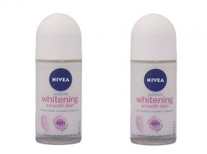 NIVEA Deodorant Roll-on, Whitening Smooth Skin - pack of 2