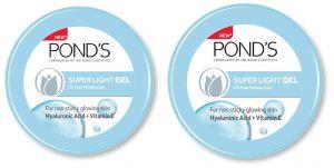 Ponds Super Light Gel Oil Free Moisturiser With Hyaluronic Acid + Vitamin E - pack of 2