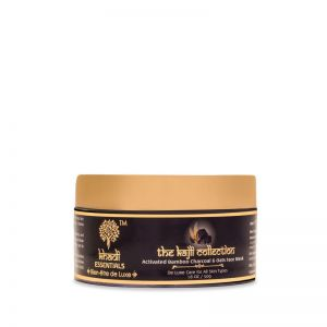 Khadi Essentials Activated Bamboo Charcoal Face Mask with Clay & Oats for Exfoliation, Detan & Glow