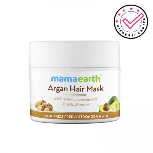 Mamaearth Argan Hair Mask With Argan, Avocado Oil & Milk Protein