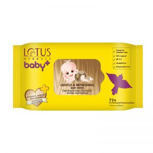 Lotus Herbals Baby + Gentle & Refereshing Baby Wipes