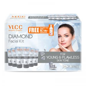 VLCC Diamond Facial Kit + FREE Rose Water Toner Worth Rs 170
