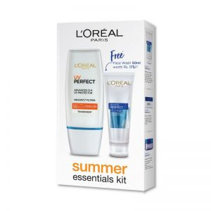 L'Oreal Paris UV Perfect Transparent SPF 50+ And L'Oreal Paris White Perfect Facial Milky Foam