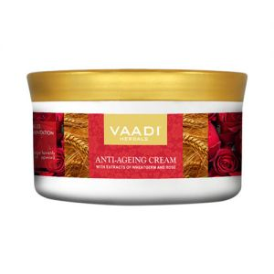Vaadi Herbals Anti Ageing Cream With Extracts Of Wheatgerm And Rose