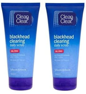 Clean & Clear Blackhead Clearing Daily Scrub - (pack of 2)