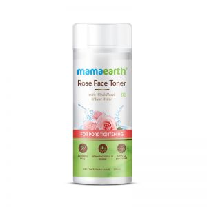 Mamaearth Rose Water Face Toner with Witch Hazel & Rose Water for Pore Tightening