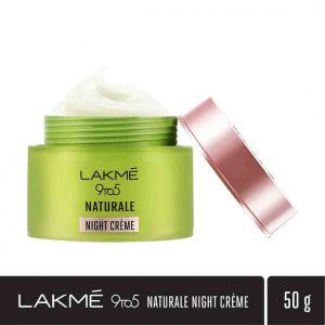 lakme 9to5 naturale night cream