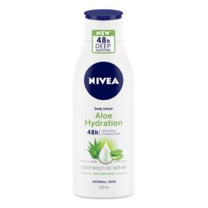NIVEA Body Lotion Aloe Hydration With Deep Moisture Serum - For Normal Skin