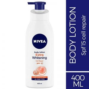 NIVEA Body Lotion Extra Whitening Cell Repair SPF 15 - For All Skin Types  400ml