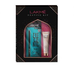 Lakme Festive Kit - Lakme 9 To 5 CC Cream Beige + Lakme Eyeconic Kajal