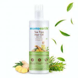 Mamaearth Tea Tree Hair Oil With Tea Tree Oil & Ginger For Dandruff-free Hair