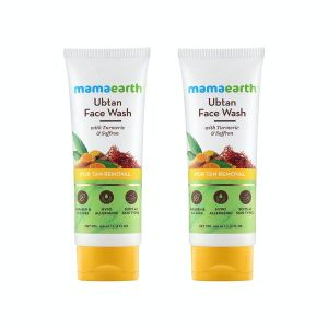 Mamaearth Ubtan Face Wash With Turmeric & Saffron For Tan Removal (Pack of 2)
