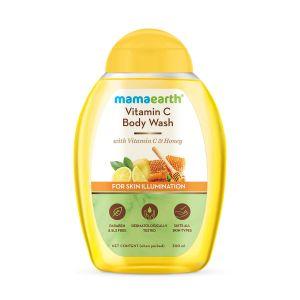 Mamaearth Vitamin C Body Wash with Vitamin C & Honey, Shower Gel for Skin Illumination
