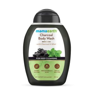 Mamaearth Charcoal Body Wash With Charcoal & Mint for Deep Cleansing, Shower Gel For Men