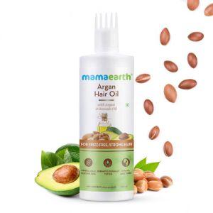 Mamaearth Argan Hair Oil With Argan Oil & Avocado Oil For Frizz-free & Stronger Hair