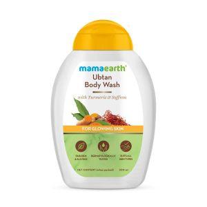 Mamaearth Ubtan Body Wash With Turmeric & Saffron, Shower Gel for Glowing Skin
