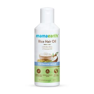 Mamaearth Rice Hair Oil with Rice Bran & Coconut Oil For Damaged, Dry and Frizzy Hair