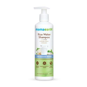 Mamaearth Rice Water Shampoo With Rice Water & Keratin For Damaged, Dry and Frizzy Hair