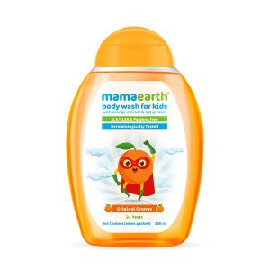 Mamaearth Original Orange Body Wash For Kids with Orange & Oat Protein