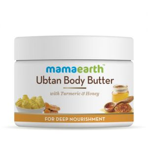 Mamaearth Ubtan Body Butter For All Skin Types Turmeric & Honey For Deep Nourishment