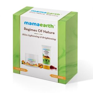 Mamaearth Turmeric & Saffron Skin Lightening & Brightening Face Mask and Facewash Combo