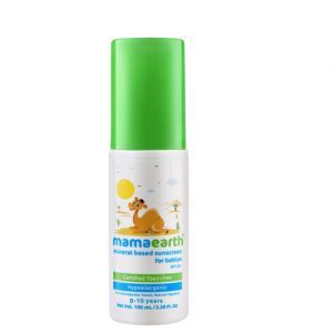 Mamaearth Mineral Based Sunscreen for Babies Certified Toxin Free SPF 20+
