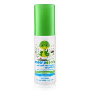 Mamaearth Natural Mosquito Repellent With Citronella & Lemongrass Oil