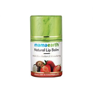 Mamaearth Natural Lip Balm With Shea Butter & Strawberry