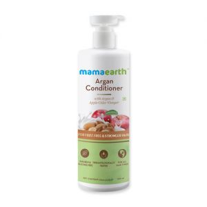 Mamaearth Argan & Apple Cider Vinegar Conditioner For Dry & Frizzy Hair