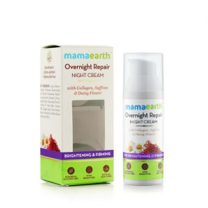 Mamaearth Overnight Repair Night Cream - Brightening & Firming