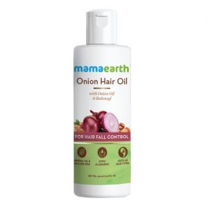 Mamaearth Onion Oil For Hair Regrowth & Hair Fall Control With Redensyl