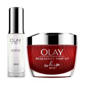 Olay Regenerist Summer Power Duo With SPF 30 for Hydration (Moisturizer + Essence)